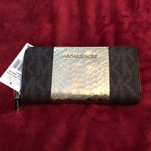 Michael Kors Wallet Brown/Gold/Coff